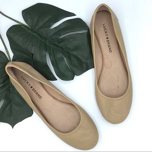 Lucky Brand | Tan Leather Ballet Flats Size 8M